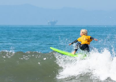 Maddox Keet U8 and U12 Surf Champion and U8 Surf and Skate Champion floating his way to victory